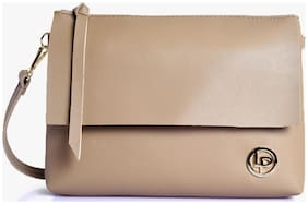 Lino Perros Beige Coloured Sling Bag