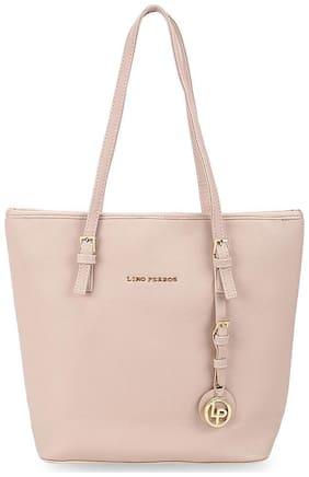 Lino Perros Leather Women Handheld bag - Pink With Women Lino Perros Wallet FREE