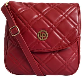 Lino Perros Red Coloured Sling Bag