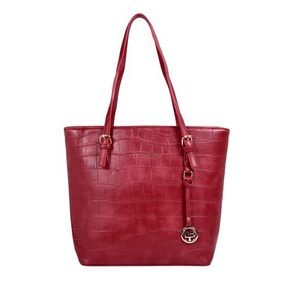 Lino Perros Women Faux Leather Handheld Bag - Red