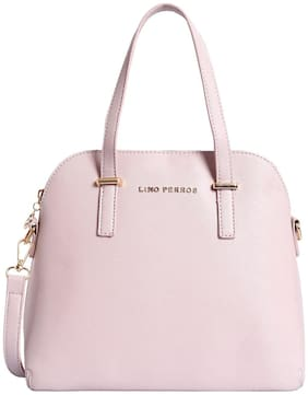 Lino Perros Faux Leather Women Handheld bag - Pink