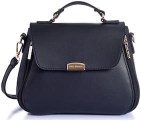 Lino Perros Women Faux Leather Satchel - Black