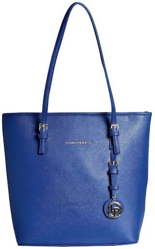 Lino Perros Faux Leather Women Shoulder bag - Blue