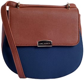 Lino Perros Womens Tan-blue Sling bag