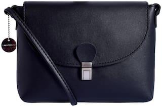 Lino Perros Women Faux Leather Shoulder Bag - Black