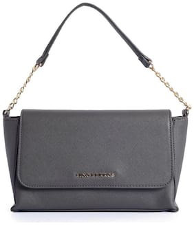 Lino Perros Leather Women Handheld bag - Grey