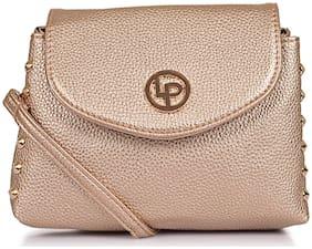 Lino Perros Golden Coloured Sling Bag