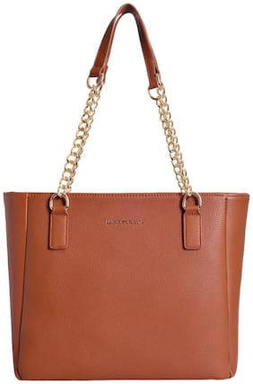 Lino Perros Faux Leather Women Shoulder bag - Beige