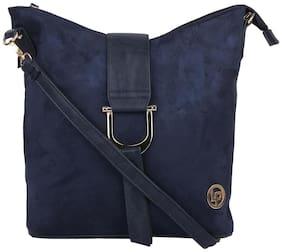 LINO PERROS Blue Color Sling Bag