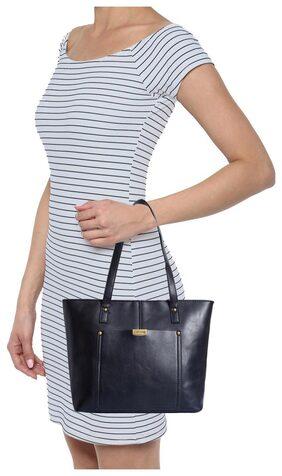 Lino Perros Women Faux Leather Handheld Bag - Black
