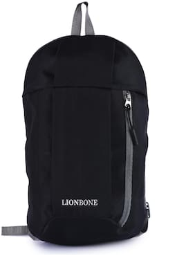 LIONBONE Black Waterproof Polyester Backpack