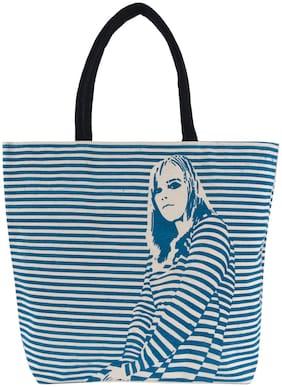 LivEZY Blue Jute Shoulder Bag