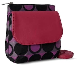 e172ac2058a1 Buy Baggit Women Nylon Sling Bag - Black Online at Low Prices in ...