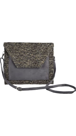 Lost & Found Women Solid Polyester - Sling Bag Multi