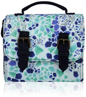Lost & Found Multi Colored Cabbage Printed Bag for Women