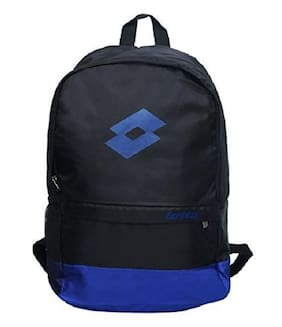 Lotto Royal Black Polyester Gym Bags (CB150040)