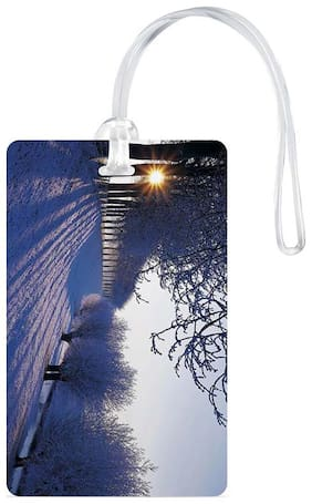 Luggage Tag- Natural Scenery Printed Designer Luggage Travel Baggage Tags with Silicon Strap- Ideal For Travel