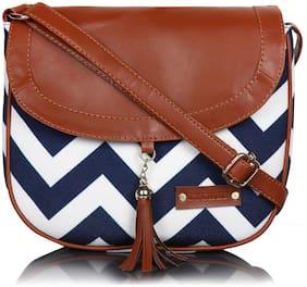Sling Bag ( Blue;White )
