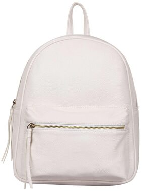 Lychee Bags PU White Ace Backpack for Girls
