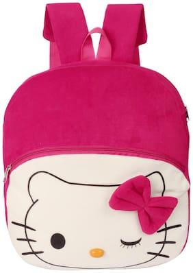Lychee bags Pink Velvet Backpack