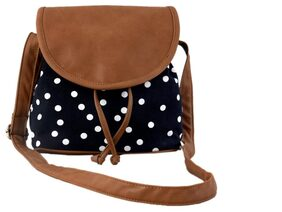 Lychee bags Women Solid Canvas - Sling Bag Black