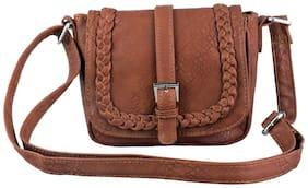 Lychee bags Multi PU Solid Sling Bag
