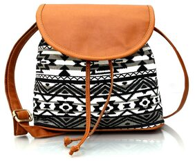 Lychee Bags Women Emma Sling Bag (LB14AZB;Black;Canvas)