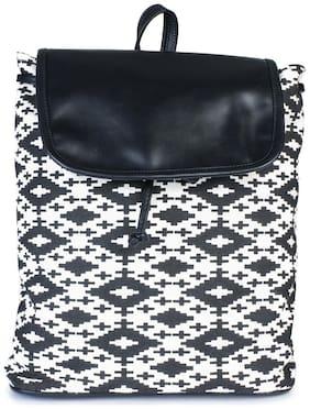 Lychee Bags Black Wool Backpack