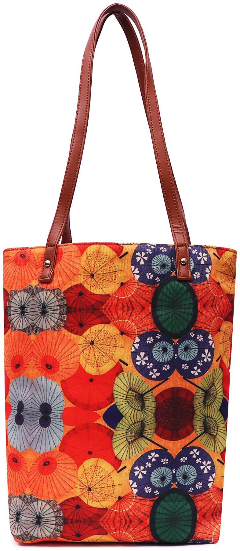 Lychee bags Orange Canvas Shoulder Bag
