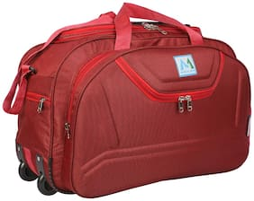 M MEDLER Cabin Size Duffle Strolley Bag EPOCH-RED - 2 Wheels