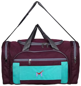 M SMS BAG HOUSE Heavy Dutty Polyester Travel Luggage & Duffel Bag - Maroon
