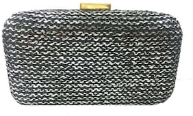 Luxury Living Women Solid Canvas - Clutch Black
