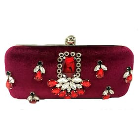 Luxury Living Women Solid Canvas - Clutch Pink