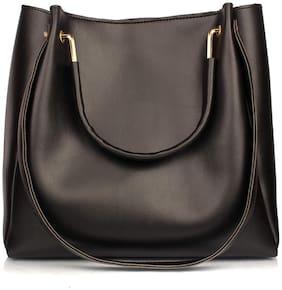 Mammon Black PU Handheld Bag