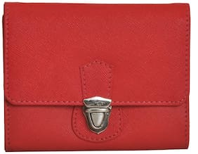 Mandava Genuine Safiano Leather Red Ladies Wallet