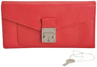 MANDAVA Women Red Leather Wallet