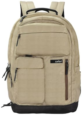 Safari Brown Polyester Backpack