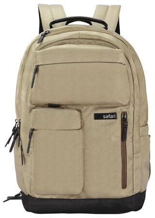 Safari Marathon Khaki Laptop Backpack (18 Months International Warranty)