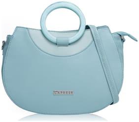 CAPRESE Faux Leather Women Satchel - Blue