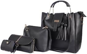Mark & Keith Black PU Handheld Bag