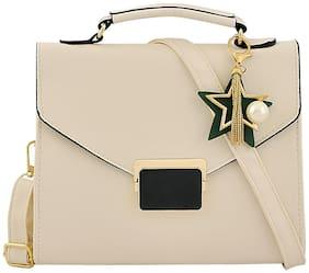 Mark & Keith White Polyester Handheld Bag