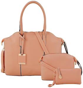 Mark & Keith Pink PU Handheld Bag