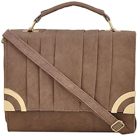 Mark & Keith Brown Polyester Solid Sling Bag