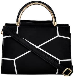 Mark & Keith Black PU Solid Sling Bag