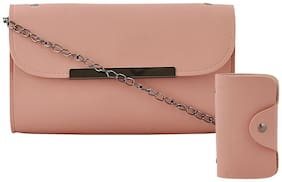 Mark & Keith Women Solid PU - Clutch Pink