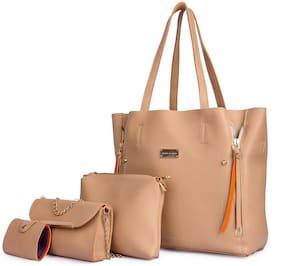 Mark & Keith Beige PU Shoulder Bag - MBG 1403 BG