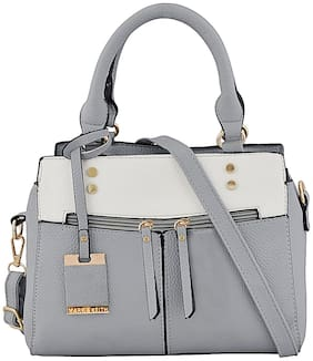 Mark & Keith Grey PU Handheld Bag