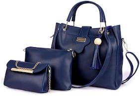 Mark & Keith Blue Polyester Shoulder Bag