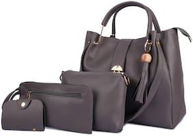 Mark & Keith Grey PU Handheld Bag
