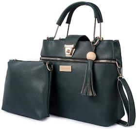 Mark & Keith Green PU Handheld Bag